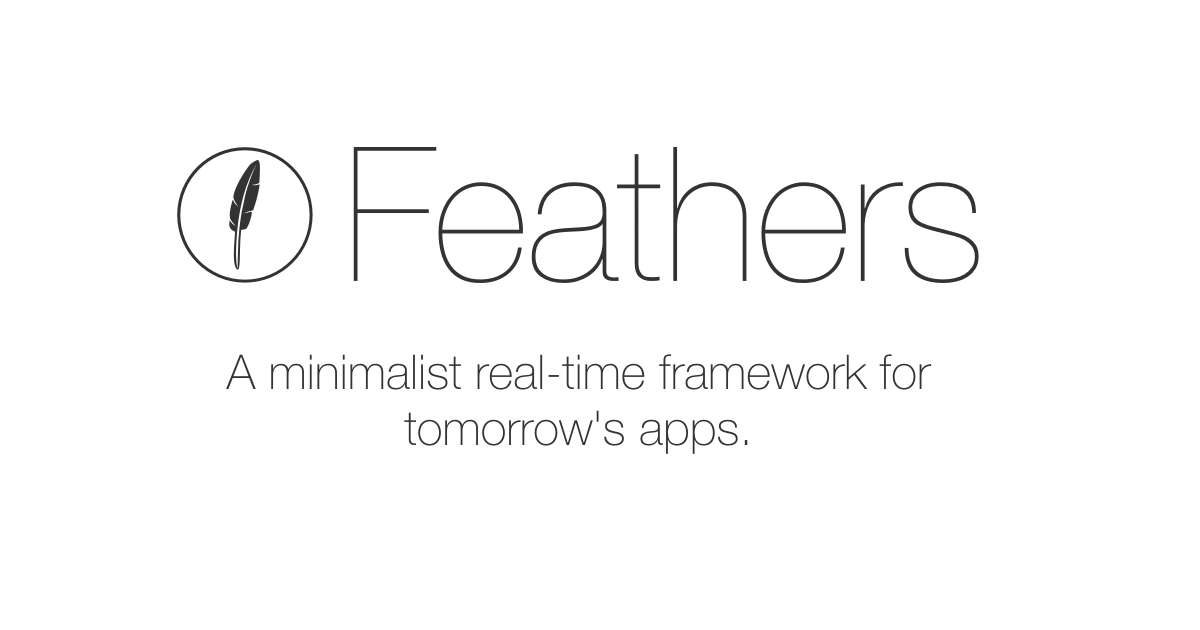 Feathers | A REST and real-time API layer for Node js, React Native